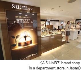A SU:M37˚ brand shop in a department store in Japan